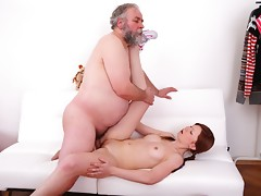 Hardcore sex is always best when you see an older guy doing a young babe like Miriam. She didn't know sex could be this good until she experienced him in her pussy.video