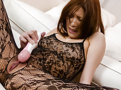 Sexy babe Tsubasa Aihara squirts in her pantyhosevideo