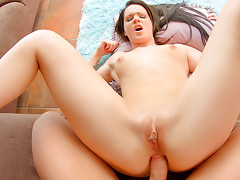 Babette gets her bubble butt pounded hard and swallows cum after a lot of a2m.video
