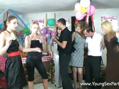 It was supposed to be a usual party with contests and dances. Well, it started with dances but, little by little, the guys got excited and then talked the chicks into stretching their yummy slits. Girls loved the idea of spicing the party and gave way to their passion for sex.video