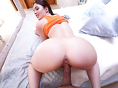 Young sizzling hot big ass cock craving girl Jodi Taylor sucks on a hulky long cock then puts it on her tight shaved pussy aftervideo
