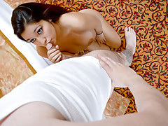 Eye catching petite Latina hottie Selena Santoro gets her tiny pussy demolished by a nice cool big cock dude who helped her in her car troublevideo