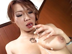 Misaki Asou is one of the bustiest Asian girls out there and here you will be seeing her giving the best blowjob where she gets some serious deepthroat and drools all over this cock like mad!video